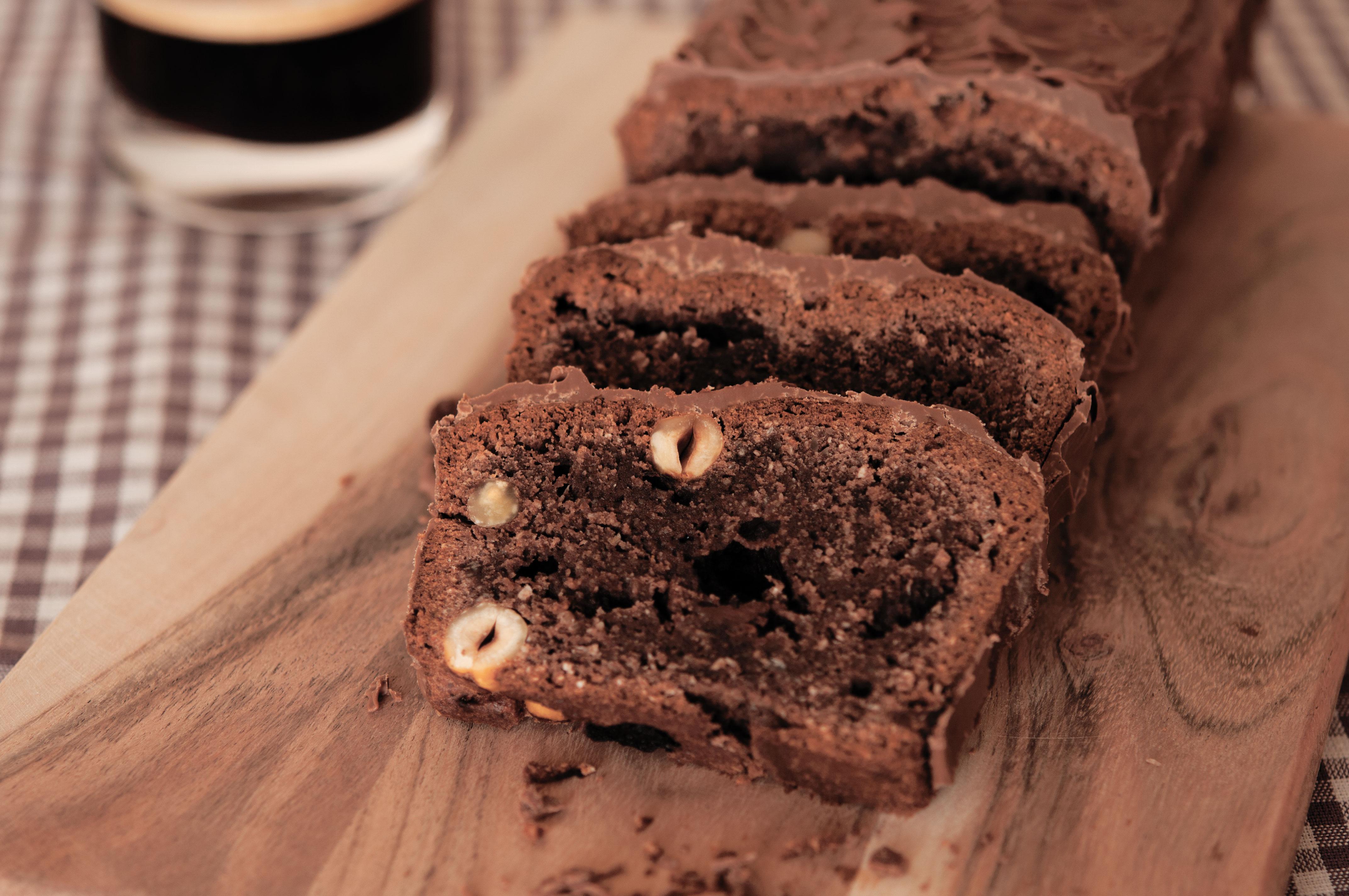 Schokokuchen Mit Mandelmehl Kakao Und Gerosteten Haselnussen