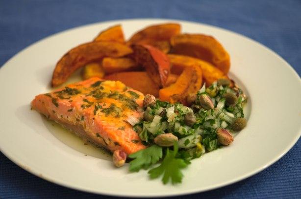 natürlich essen | Wildlachs mit Kürbis und Orangensoße | Lars Brouwers & Torsten Fleischer