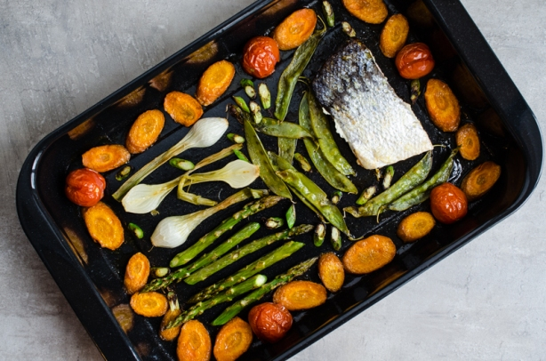 natürlich essen|Ofengemüse mit Wildlachs|Lars Brouwers & Torsten Fleischer