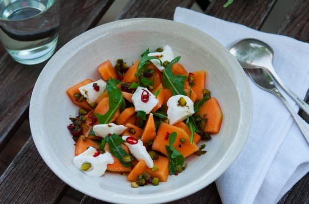 natürlich essen | Melonensalat mit Ziegenfrischkäse | Lars Brouwers & Torsten Fleischer