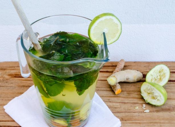 natürlich essen | Minze-Ingwer-Kurkuma-Limo